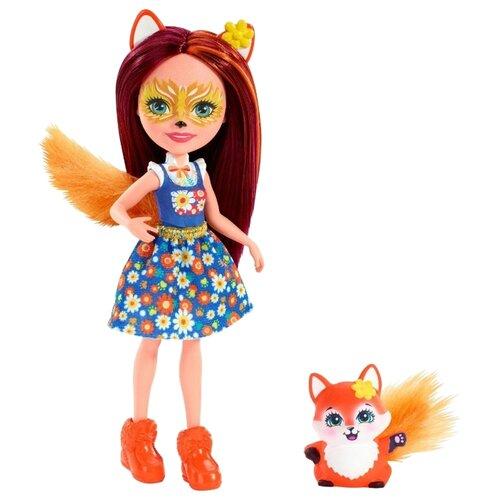 Кукла Enchantimals Фелисити Лис с любимой зверюшкой, 15 см, FXM71
