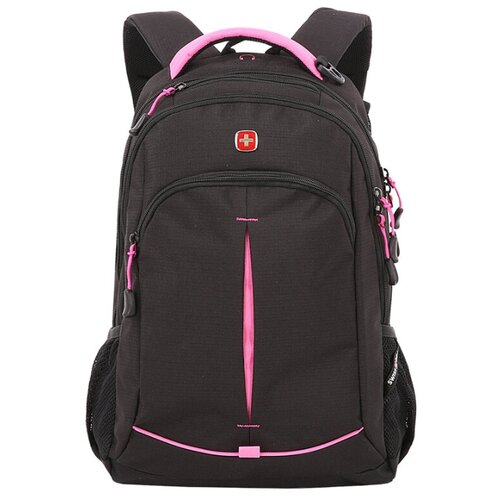 Фото - Рюкзак SWISSGEAR черный/фуксия 22 л рюкзак swissgear 32x15x46 см 22 л черный