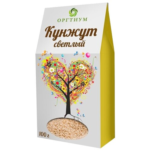 Кунжут Оргтиум белый экологический, 100 г