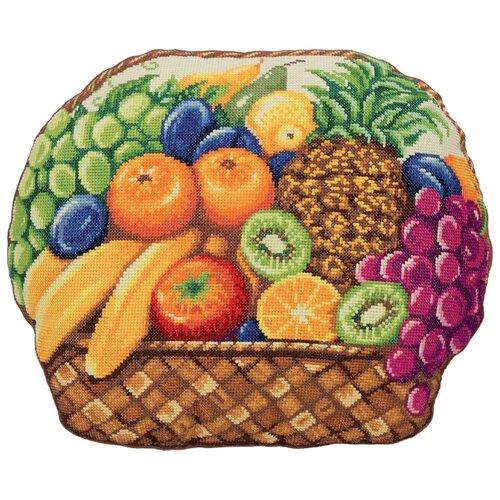 Купить PANNA Набор для вышивания Подушка Фруктовое лукошко 41.5 x 33.5 см (PD-7051), Наборы для вышивания