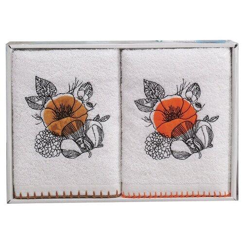 Аллегро комплект полотенец Мальва желтый/оранжевый