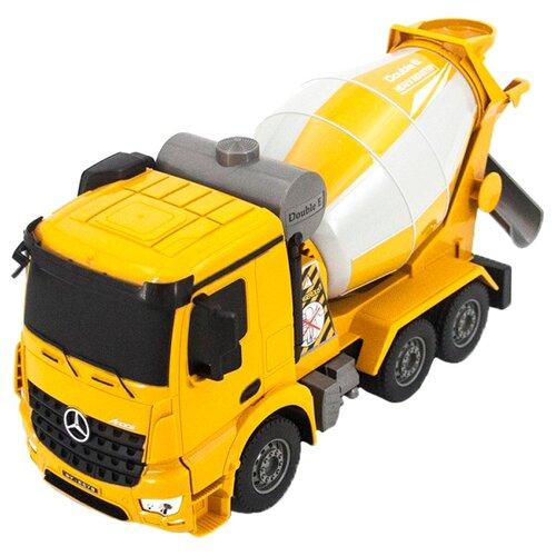 Купить Бетономешалка Double Eagle Mercedes-Benz Arocs (E578-003) 1:26 27 см желтый/белый, Радиоуправляемые игрушки