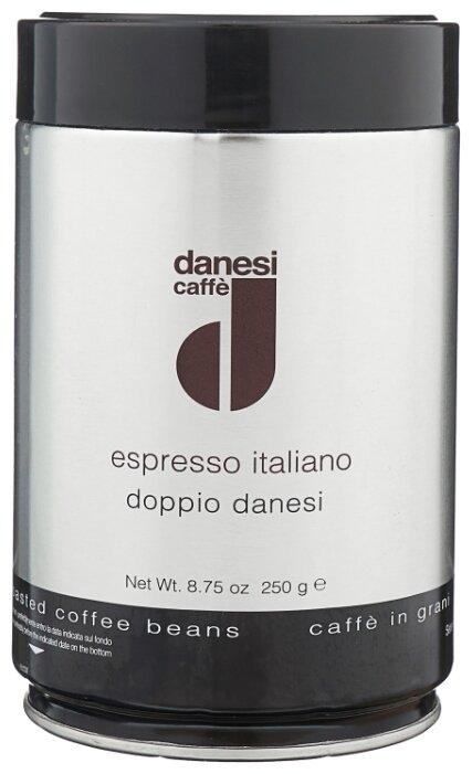 Кофе в зернах Danesi Doppio, жестяная банка
