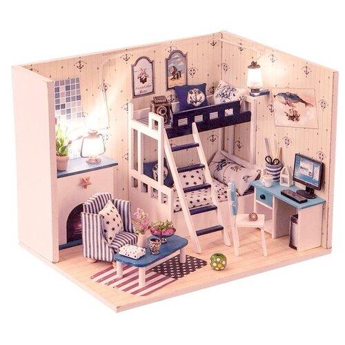 Купить Dolemikki кукольный домик ZQW05, бежевый/синий, Кукольные домики