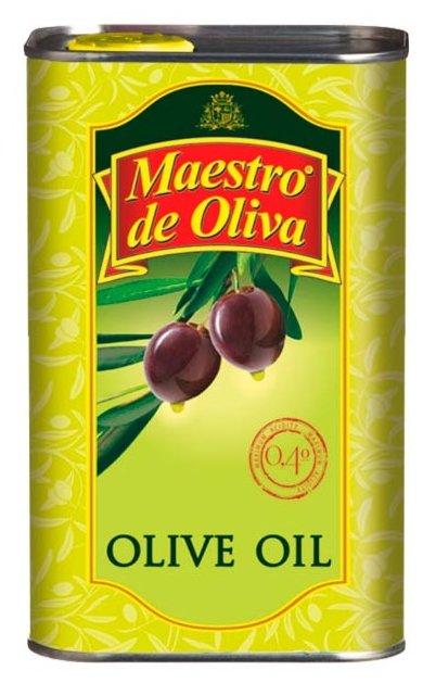 Maestro De Oliva Масло оливковое, жестяная банка