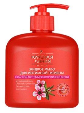 Красная линия Жидкое мыло для интимной гигиены С маслом австралийского чайного дерева, 250 мл