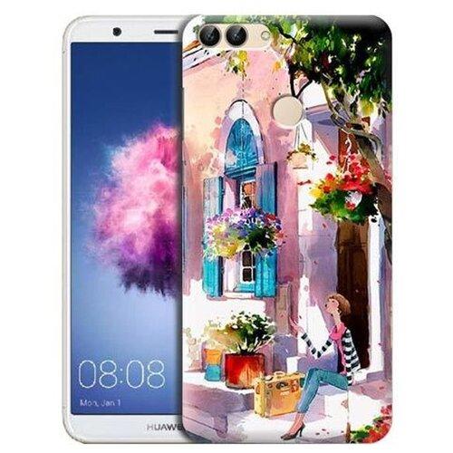 Чехол Gosso 704935 для Huawei P Smart девочка на цветущей улочкеЧехлы<br>