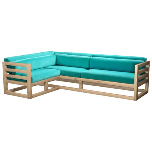 Угловой диван AnderSon Магнус угол: слева, размер: 250х170 см, обивка: ткань, сосна/голубой диван угловой диван магнус магнус