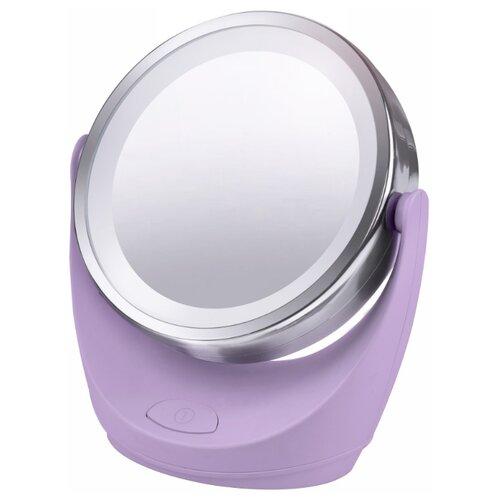 Зеркало косметическое настольное Marta MT-2646 с подсветкой лиловый аметистЗеркала косметические<br>