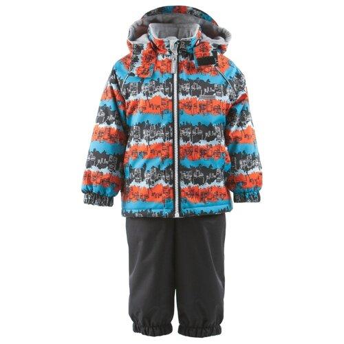 Комплект с полукомбинезоном KERRY Wave K19012 размер 98, 6370 синий/коричневыйКомплекты верхней одежды<br>