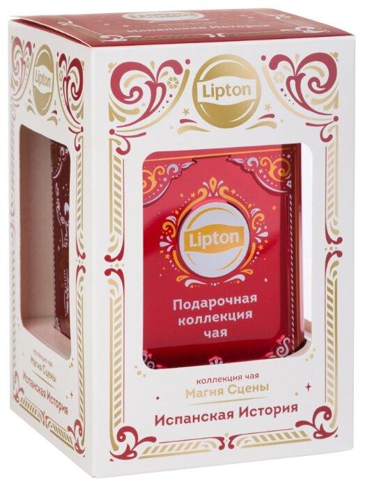 Подарочный набор LIPTON Черного листового чая Магия сцены, 30 гр.