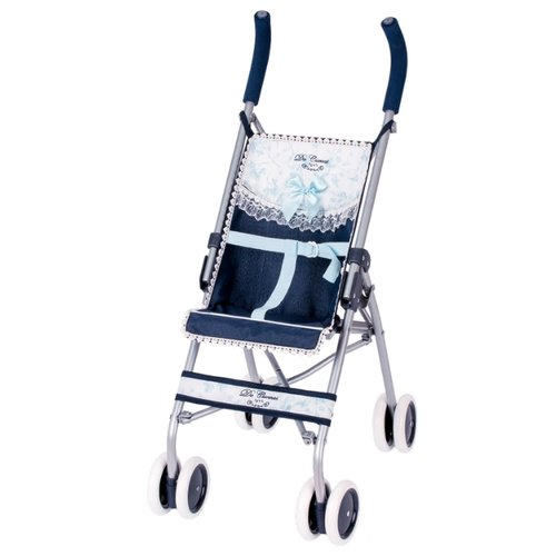 Купить Прогулочная коляска DeCuevas Романтик 90125 синий, Коляски для кукол