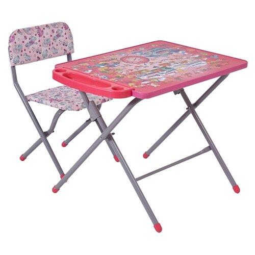 Купить Комплект Фея Алфавит 0005693 45x60 см розовый, Парты и столы