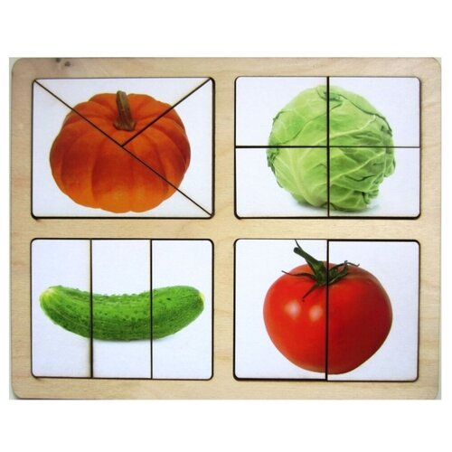 Развивающее пособие из дерева Разрезные картинки