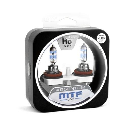 Лампа автомобильная галогенная MTF Argentum +130% H3A1208 H8 12V 35W 2 шт. лампа автомобильная галогенная mtf titanium htn1208 h8 12v 35w 2 шт