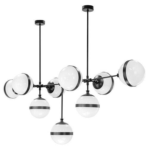 Люстра Lightstar Globo 813197, E14, 360 Вт, кол-во ламп: 9 шт., цвет арматуры: черный, цвет плафона: белый