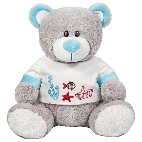 Мягкая игрушка Maxitoys Медведь Морячок в футболке 30 см игрушка мягкая maxitoys калифорнийский кролик 30 см