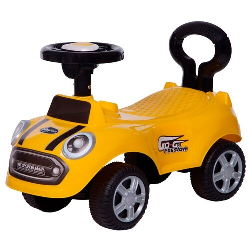 Купить Каталка-толокар Baby Care Speedrunner (616B) со звуковыми эффектами желтый, Каталки и качалки