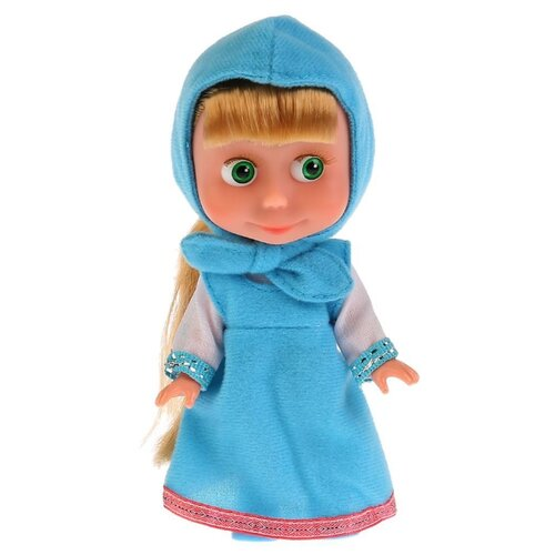 Кукла Карапуз Маша и Медведь, Маша в голубом платье ,15 см, 83030BD кукла карапуз герда 29 см снежная королева в голубом платье карапуз