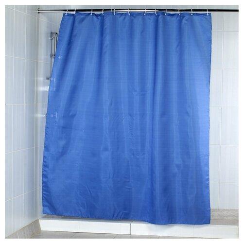 Штора для ванной Aquarius Морской 180х200 синий