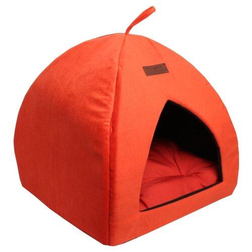 Домик для кошек, для собак Lion Альмонд (LM00100) 42х42х45 см красныйЛежаки, домики, спальные места<br>