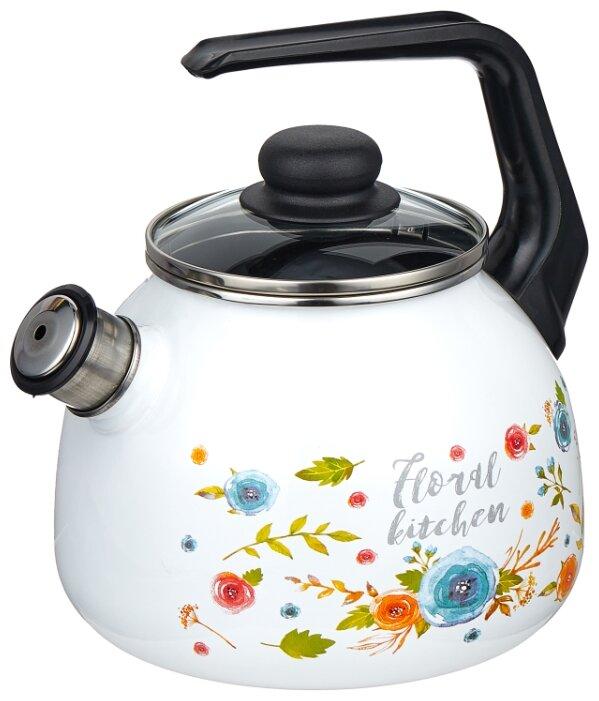 Купить Appetite Чайник со свистком 4с209я 3 л, Floral Kitchen по низкой цене с доставкой из Яндекс.Маркета (бывший Беру)