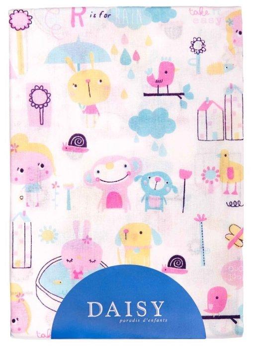 Daisy простыня на резинке Девочки 120х60 см розовый