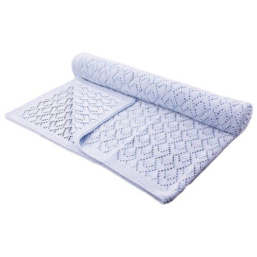 Купить Плед LEO Фриволите 90x90 голубой, Покрывала, подушки, одеяла