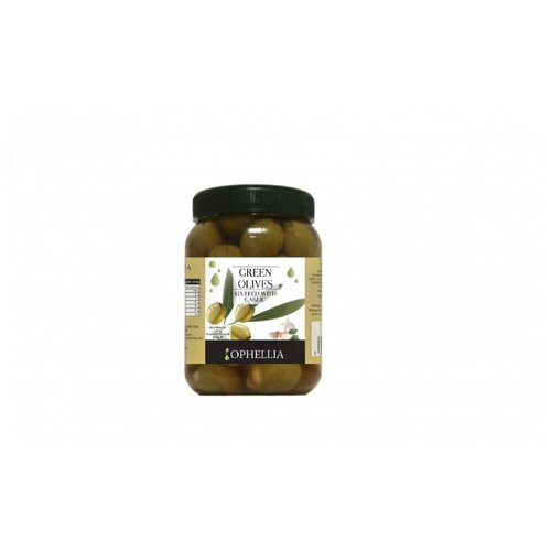 Ophellia Зеленые оливки с чесноком, 500 г