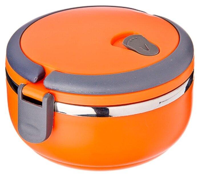 Ланч-бокс Kamille 3 секции круглый 2100 мл. оранжевый