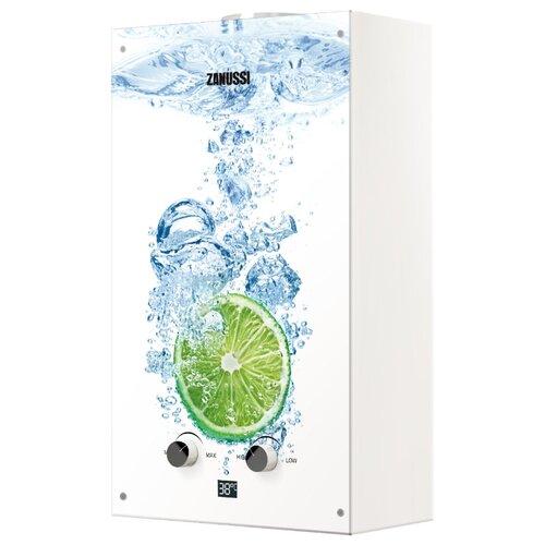 цена на Проточный газовый водонагреватель Zanussi GWH 10 Fonte Glass Lime