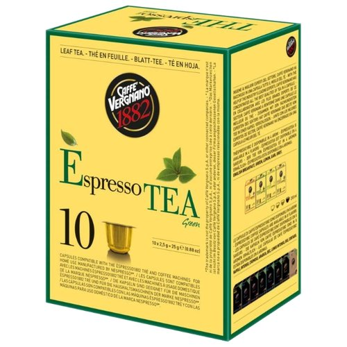 Чай в капсулах Caffe Vergnano 1982 Green Tea (10 капс.)Капсулы для кофемашин<br>