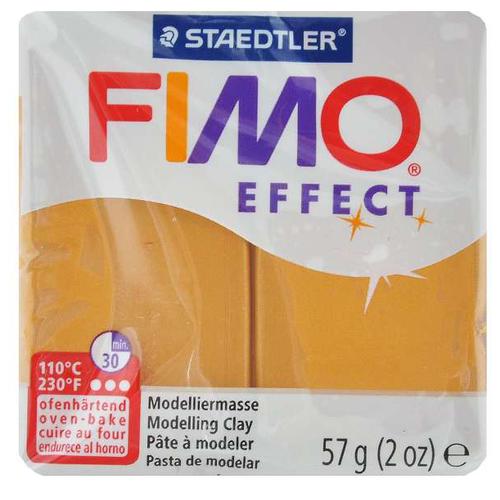 Купить Полимерная глина FIMO Effect запекаемая золотой металлик (8020-11), 57 г, Глина