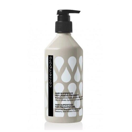 Купить Barex шампунь Contempora Frequent Use Universal For All Hair Types универсальный для всех типов волос с маслом облепихи и маслом маракуйи, 500 мл