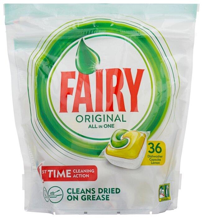 Купить Fairy Original All in 1 капсулы (лимон) для посудомоечной машины 36 шт. по низкой цене с доставкой из маркетплейса Беру