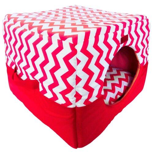 Домик для собак и кошек LOORI Z0333 43х43х34 см красный