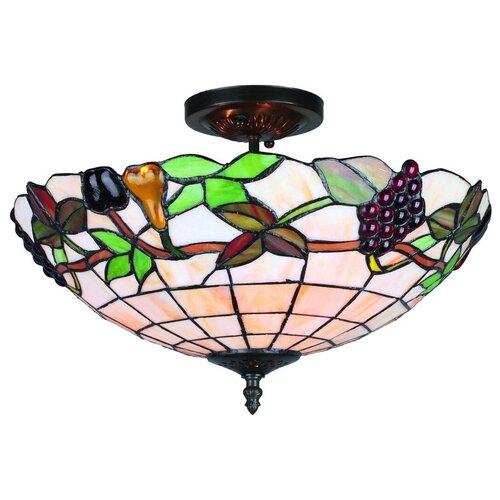 Фото - Люстра Omnilux Alenquer OML-80307-03, E27, 180 Вт, кол-во ламп: 3 шт., цвет арматуры: бронзовый, цвет плафона: разноцветный люстра omnilux alenquer oml 80307 03