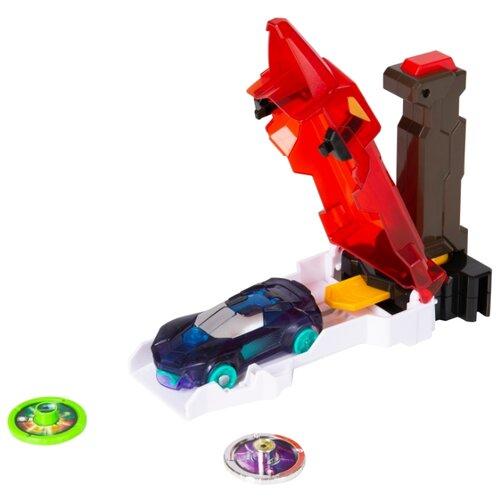 Купить Интерактивная игрушка трансформер РОСМЭН Дикие Скричеры. Запускатели. Скричер-катапульта+машинка (35897/36573) красный, Роботы и трансформеры