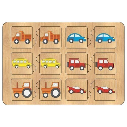 Фото - Настольная игра TAU TOY Найди пару. Техника деревянные игрушки tau toy головоломка никитина собери квадрат 7 28х28 см