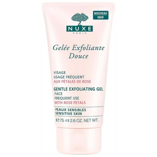 Nuxe гель-эксфолиатор для лица Gentle exfoliating gel Face frequent use with Rose petals 75 мл nuxe aroma perfection gel nettoyant purifiant