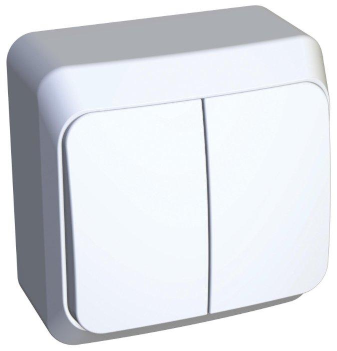 Выключатель 2х1-полюсный Schneider Electric ЭТЮД BA10-002B, 10А , белый