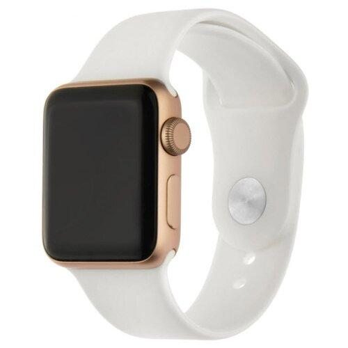 INTERSTEP Ремешок SPORT для Apple Watch 38/40 мм, силикон белый