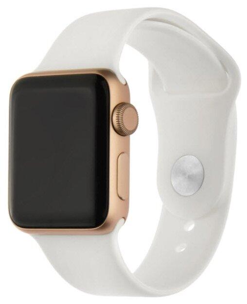 INTERSTEP Ремешок SPORT для Apple Watch 38/40 мм, силикон розовый