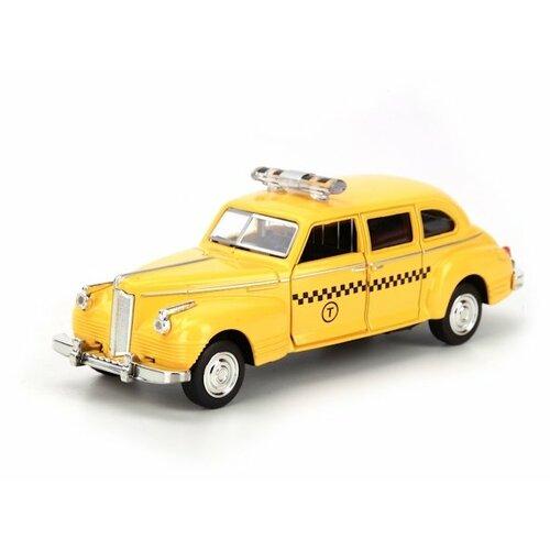 Легковой автомобиль ТЕХНОПАРК ЗИС-110 Такси (X600-H09045-R) 1:50 желтый легковой автомобиль технопарк электокар x600 h09225 r 10 см черный белый