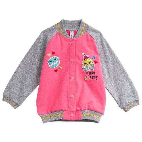 Олимпийка playToday размер 80, розовый/серыйДжемперы и толстовки<br>