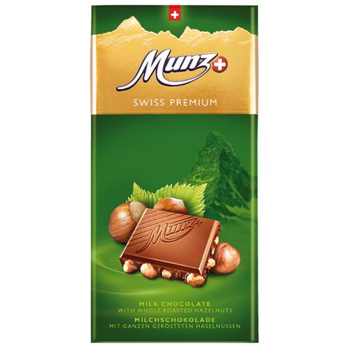 Шоколад Munz молочный с обжаренным фундуком, 100 г сандалии thomas munz thomas munz mp002xw0rao9