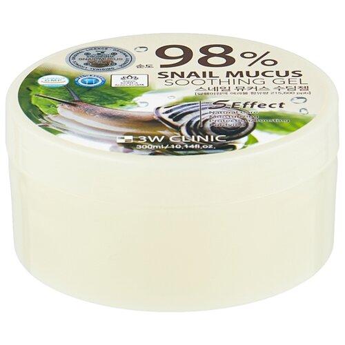 Гель для тела 3W Clinic многофункциональный со 98% экстрактом слизи улитки Snail Soothing Gel, 300 мл