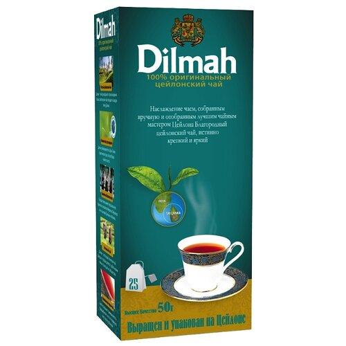 Чай черный Dilmah Цейлонский в пакетиках, 25 шт.Чай<br>