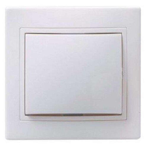 Выключатель 1-полюсныйвыключатель / переключатель IEK КВАРТА EVK10-K01-10-DM,10А, белыйРозетки, выключатели и рамки<br>
