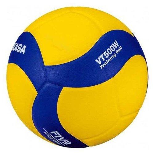 Волейбольный мяч Mikasa VT500W желто-синий